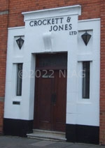 the entrance to Crockett & Jones, copyright Jane Waterfield