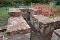 stabilised brickwork of the chimney base