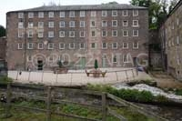 Water from Cromford Sough entered the mill between these two buildings