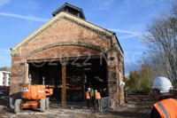 Former Midland Railway engine shed being renovated, Northampton.