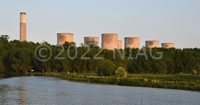Ratcliffe-on-Soar power station; the River Trent in the foreground
