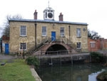 photograph of the East Lodge built over the canal entrance to Weedon Depot seen from the inside, copyright Peter Perkins