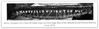 Example of a 3ft long cast-iron edge rail of the Mansfield & Pinxton Railway c. 1819