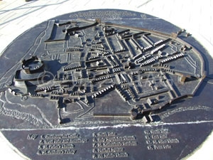 Model of Northampton c.1610 outside the railway station