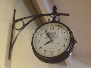 Clock on the platform at Wicksteed Park